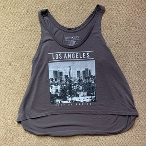 🌴Los Angeles Fifth Sun Grey Tank Top W Sz Small